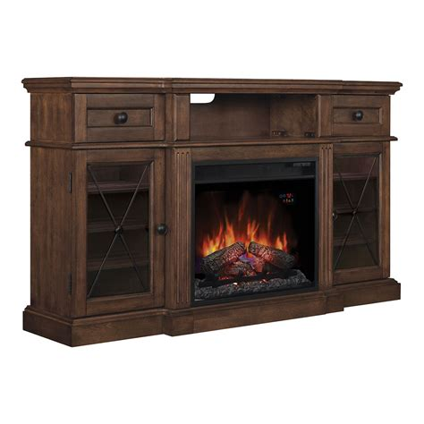 Tv Stand Fireplace Clearance by Sedgwick Electric Fireplace Tv Stand In Burnished Walnut