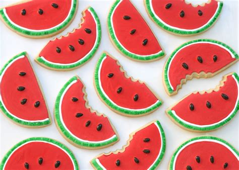 cookie designs watermelon shaped cookies glorious treats