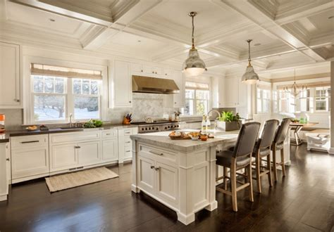 open kitchen design ideas open kitchen with ceiling beams east coast inspired family home home bunch interior