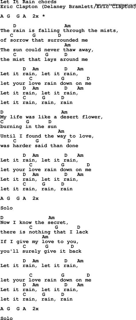 Let It Rain Guitar Chords