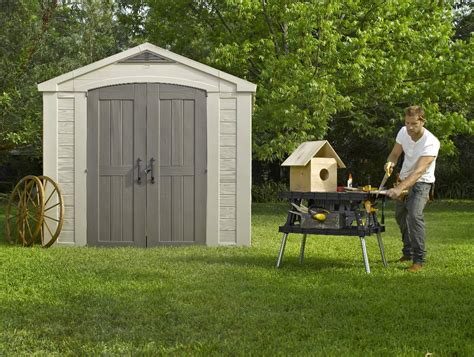 Garden Sheds Australia by Which Are Better Plastic Garden Sheds Or Steel Landera