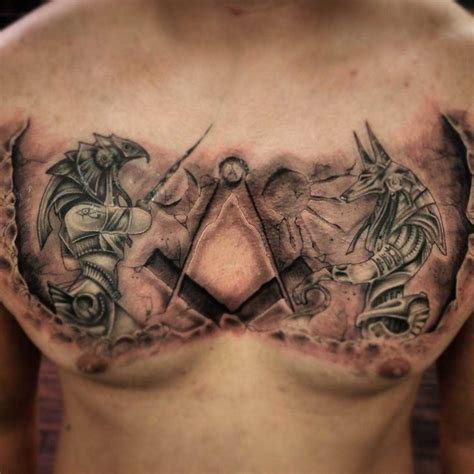 egyptian chest tattoos gods on chest best ideas gallery