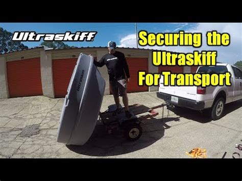 round boat youtube transporting a round boat securing the ultraskiff 360