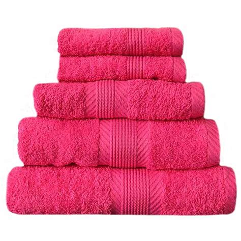 hot pink towels bathroom catherine lansfield home 100 cotton 450gsm 4 piece guest