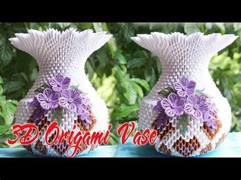 origami florero how to make 3d origami flower vase v1 flor de origami 3d