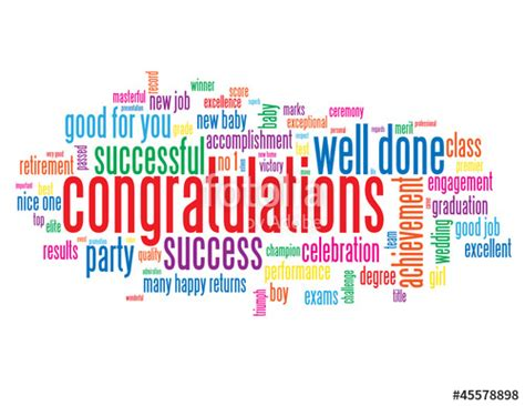 new year congratulation word quot quot congratulations quot tag cloud well done one