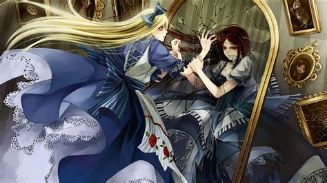 wallpaper anime mirror alice in wonderland full hd wallpaper and background image