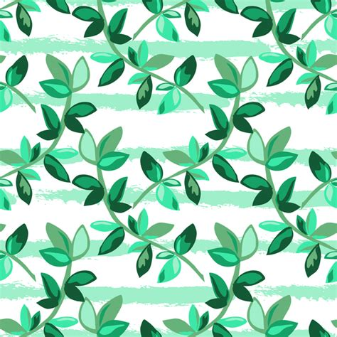 branch name pattern means tree branches with leaves seamless pattern vector 06