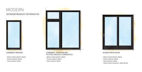 moderne fenster modern home style exterior window door details