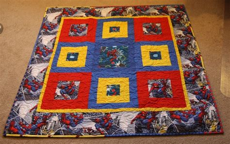 pattern for spiderman quilt spiderman quilt just for baby pattern allpeoplequilt com