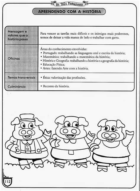 Projeto os três porquinhos - Atividades com a história dos