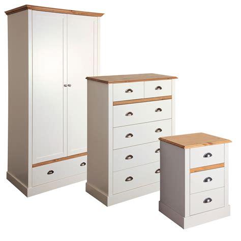 pine effect bedroom furniture hemsworth cream oak effect 3 piece bedroom furniture set