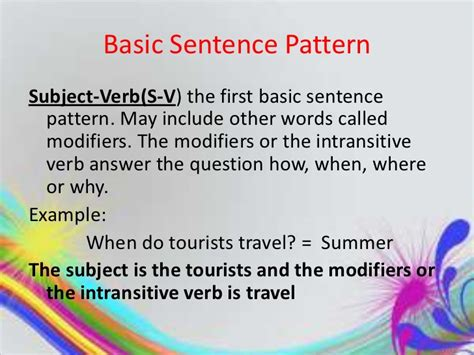 sentence pattern s lv c exles eng copy