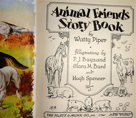 other fiction best kept secret book three of the clifton 1935 animal friends story book watty piper from