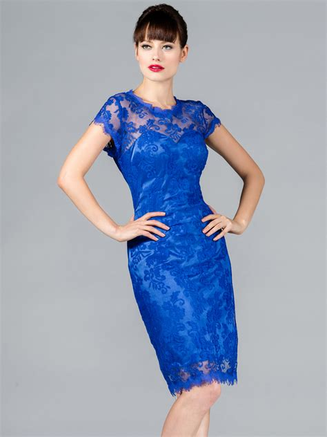 Dress Blue blue lace dress dressed up