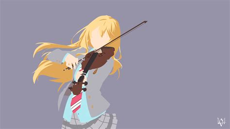 wallpaper anime shigatsu kaori miyazono shigatsu wa kimi no uso minimalism by