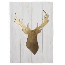 tableau t 234 te de chevreuil sur bois blanc 15 5 x 22 x 1
