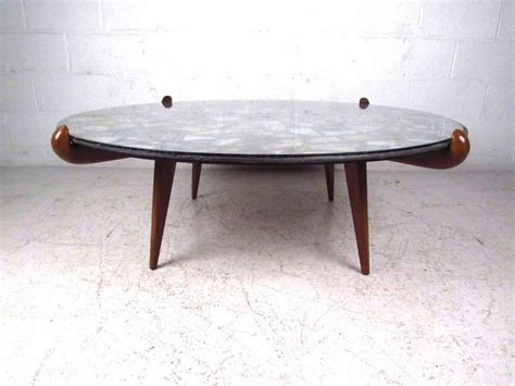 Stained Glass Coffee Table Mid Century Modern Walker Stained Glass Coffee Table For Sale At 1stdibs