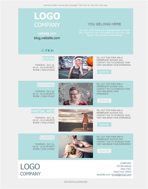 Gym Newsletter Template Teal Gray Gym Fitness Newsletter Templates Canva Download Psypro Info Free Fitness Newsletter Templates