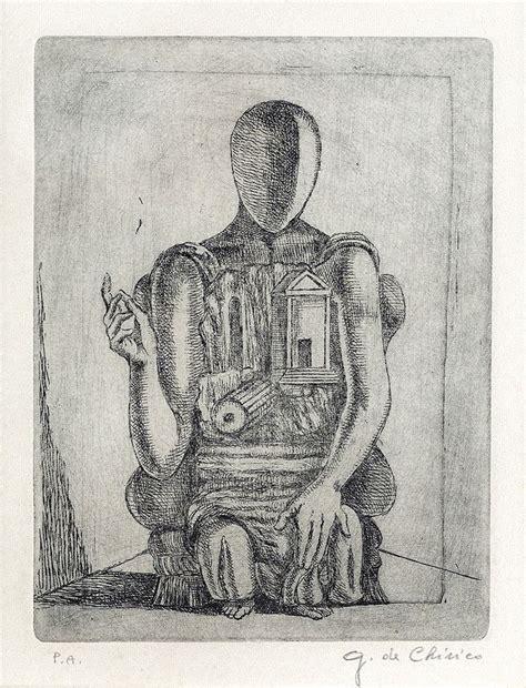 manichino seduto giorgio de chirico manichino seduto c 1975 etching on