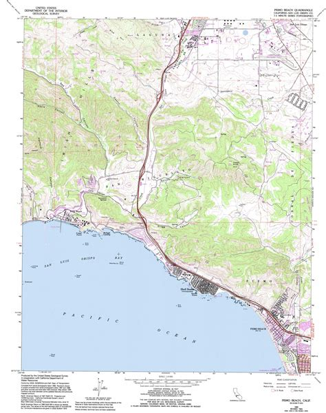 california map high resolution pismo topographic map ca usgs topo 35120b6