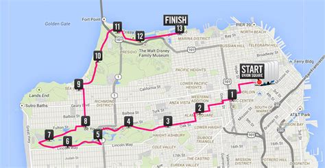 san francisco race map nike marathon san francisco map