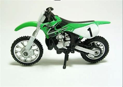 suzuki motorcycle green mini scale green blue yellow suzuki motorcycle