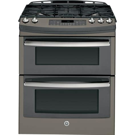 Oven Gas ge profile 6 8 cu ft oven gas range with self cleaning convection oven in slate