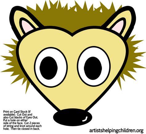 free printable hedgehog mask template porcupine hedgehog crafts for kids ideas for porcupines
