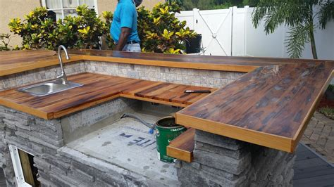 Outdoor Wood Countertop by Lumber Company St Petersburg Florida Since 1908