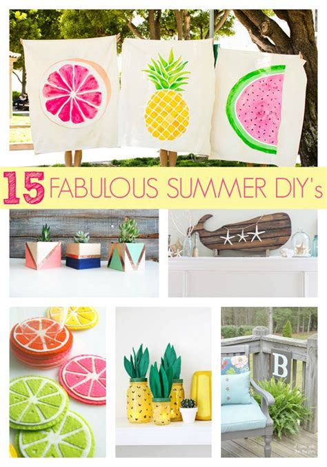 diy craft ideas for 15 fabulous summer diy projects pretty my