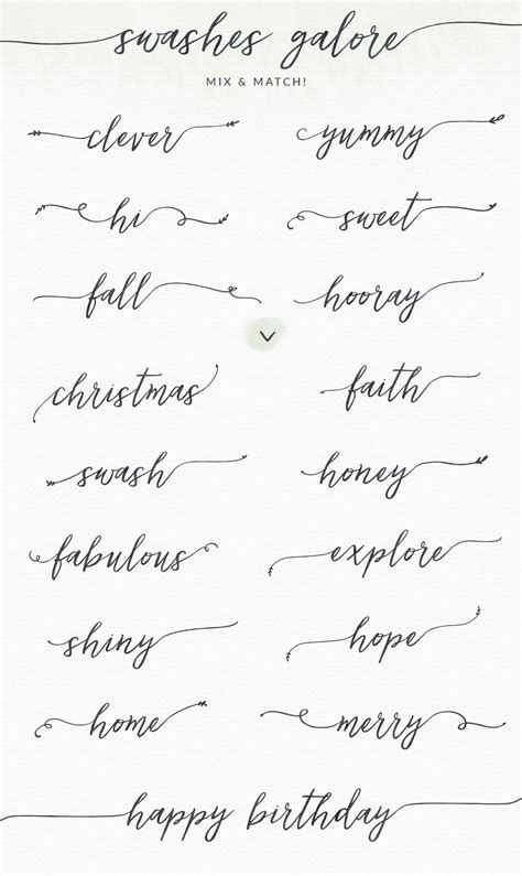 tattoo fonts cursive feminine lovefern font swashes fonts creative and