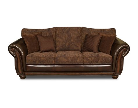 upholstery sofa simmons upholstery 8104 pk sf brown leather zepher