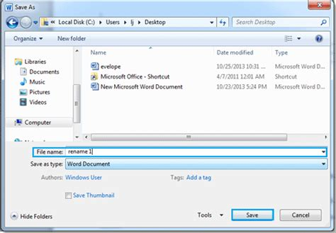 How To Rename A Word Document how to rename a document in word