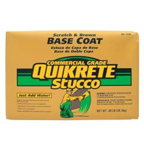 quikrete 80 lb base coat stucco 113980 the home depot