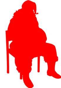santa claus silhouette free vector silhouettes