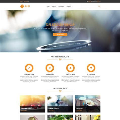 layout online bootstrap template 417 grill