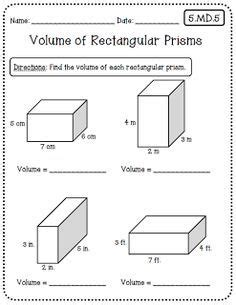 Common Math 5th Grade Worksheets by Volume Of Rectangular Prism By Counting Cubes Math