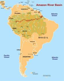 map of basin in south america river south america map