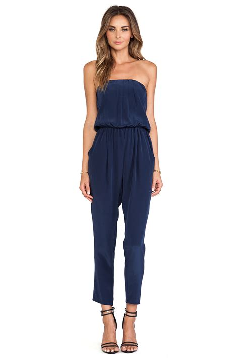 Dress Quin Navy helena quinn strapless jumpsuit in navy from