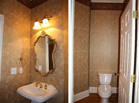 our powder room makeover from damask to emily our powder room makeover from damask to emily a clark