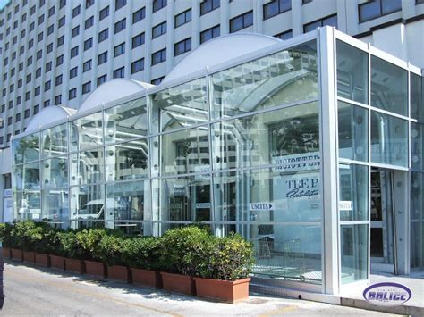 copertura a cupola tettoie cupole lucernari in vetro e acciaio a