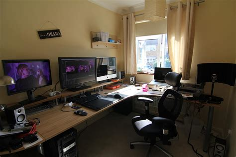 home office gaming setup office workspace home gaming desk setup ideas ultimate