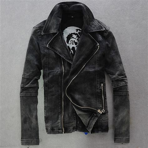 high quality mens casual classic simple design letterman cool jean jackets jacket to