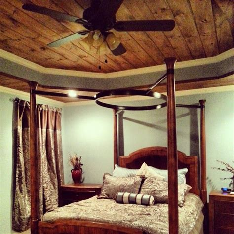 Tray Ceiling With Wood Tongue And Groove With Crown Molding Tray Ceiling In The