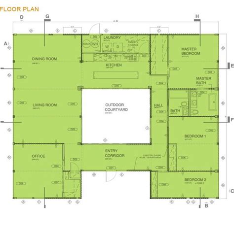 shipping container house floor plan i this