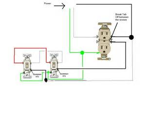 how do i go about wiring two split circuit outlets controlled by two switches power is coming