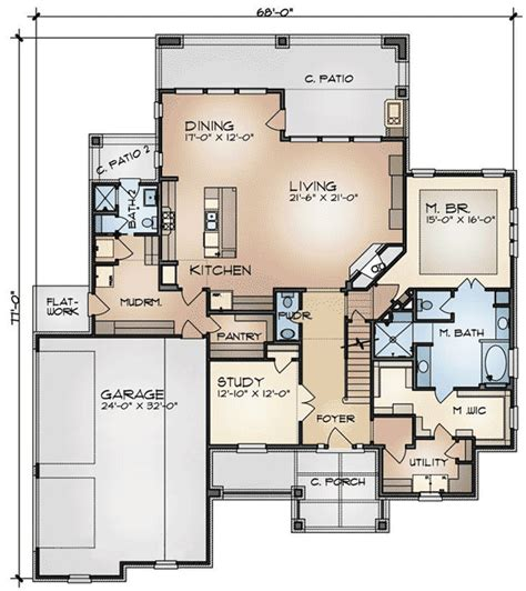 Game Room Floor Plans by Craftsman House Plan With Game Room 36919jg