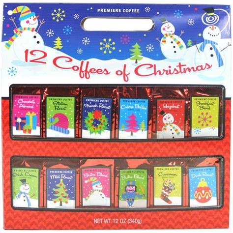 premiere brand coffees of christmas gift set 12 flavors