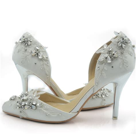 comfortable wedding shoes for bride 2016 handcraft white satin bride shoes comfortable wedding